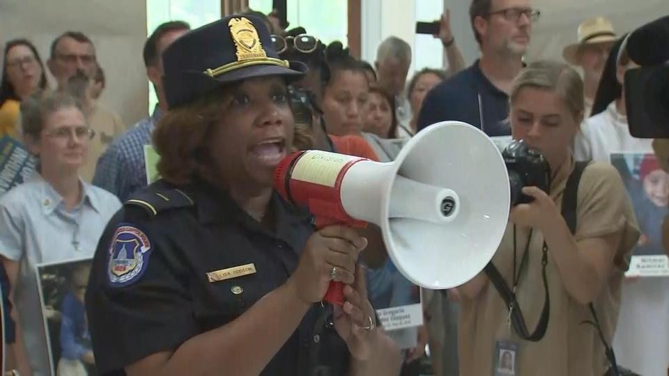 Arrests at U.S. Capitol migrant protest