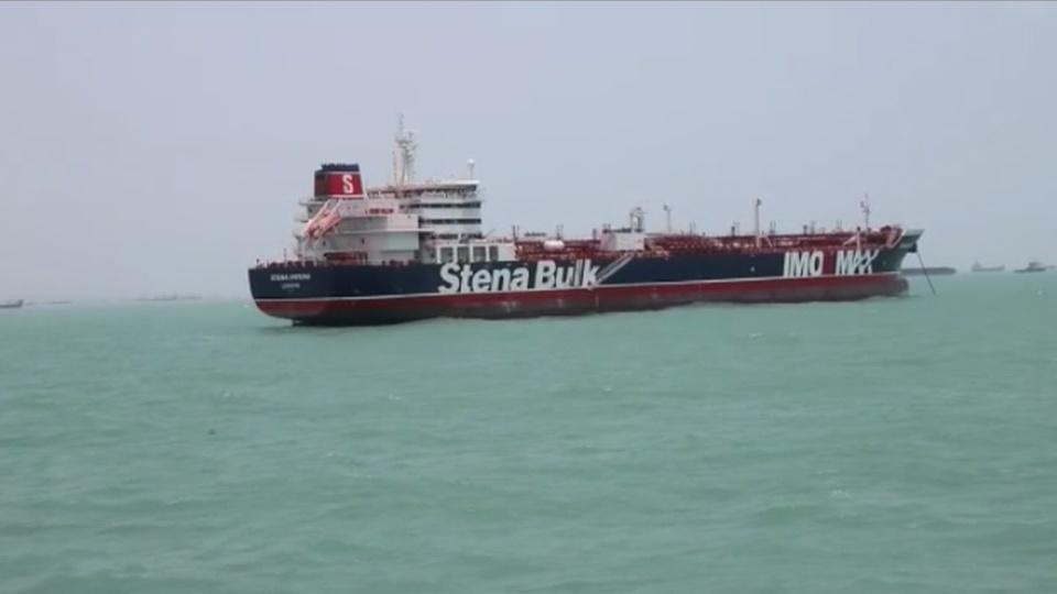 "Iran releases footage of tanker seizure, UK calls it a ""hostile act"""