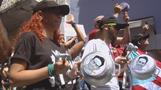Puerto Ricans bang pots and pans in political protests