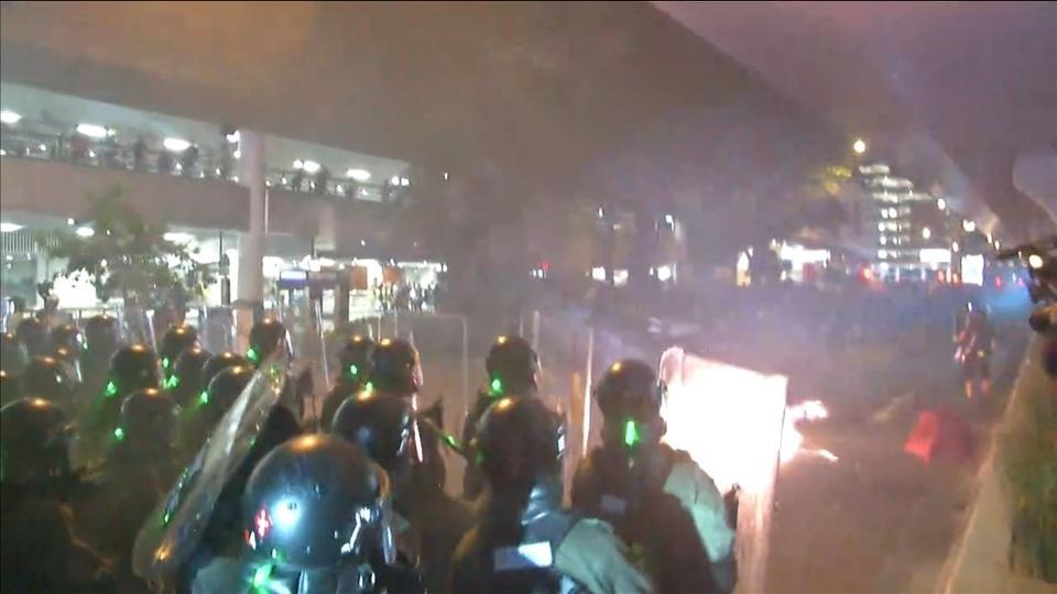 Hong Kong police fire tear gas as protests descend into chaos