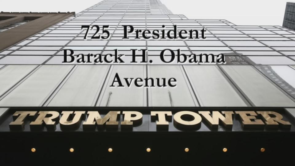 Petitioners want Trump Tower on Obama Avenue
