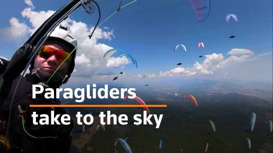 Paragliders color the North Macedonian sky for annual competition