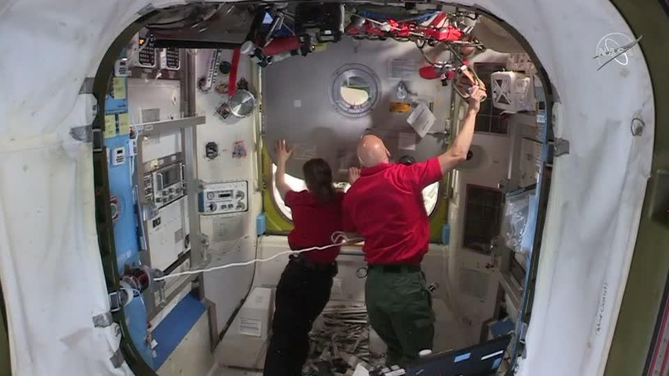NASA astronauts go for spacewalk outside ISS
