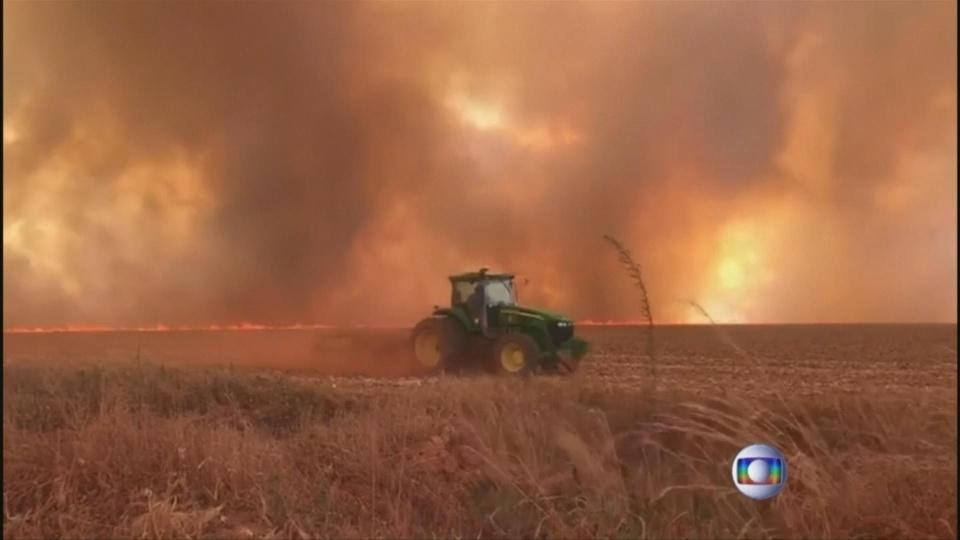 Brazil's Bolsonaro blames wildfires on NGOs