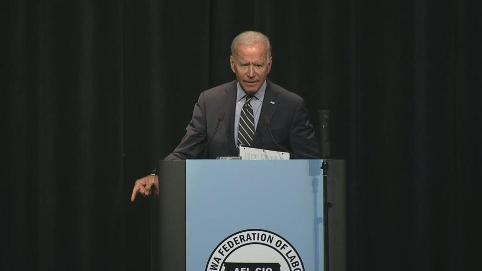 Biden says CEOs should pay for threatening unions