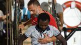 Migrants disembark Open Arms rescue ship