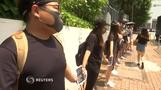 Student protesters form human chain in Hong Kong