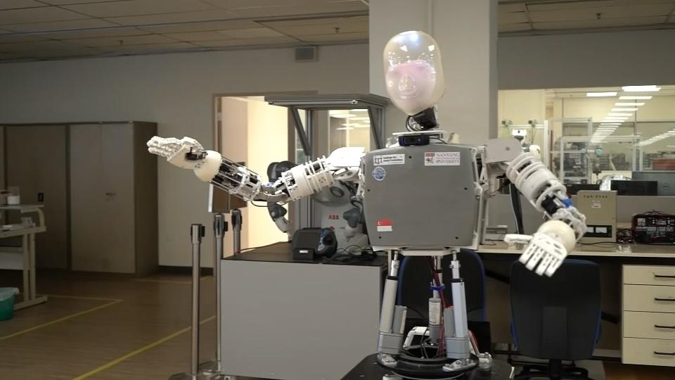 This robot is like a Skype call with hands