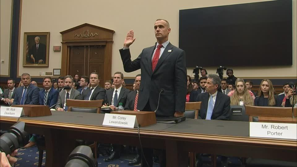 """Harassment of this president"": Lewandowski testifies"