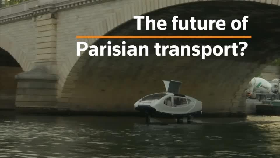 'Flying taxi' tested on River Seine, offered as future of Parisian transport