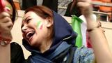Iranian women score in soccer match ban
