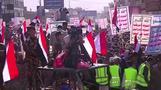 الحوثيون يحتشدون في العاصمة اليمنية في ذكرى سيطرتهم عليها