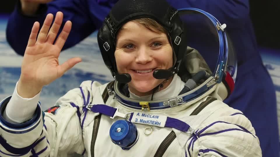 U.S. astronauts soar in first all-female spacewalk