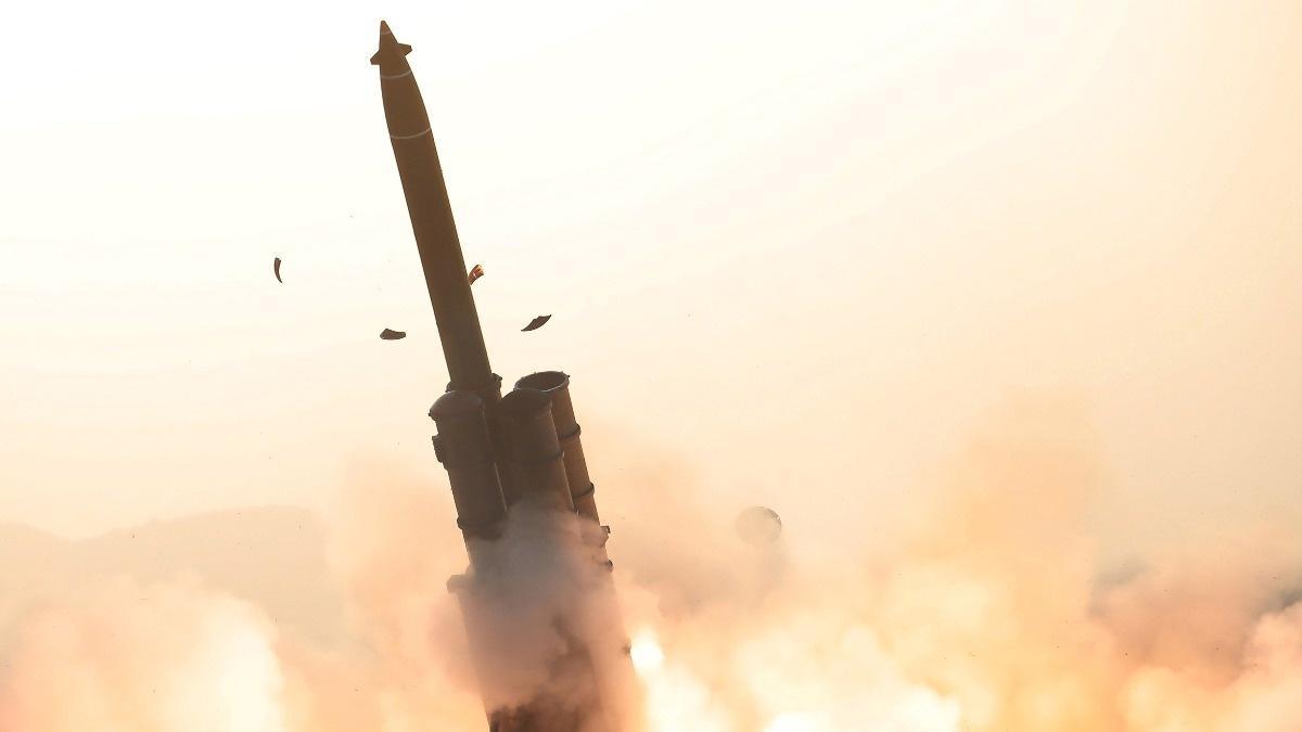 North Korea tests 'multiple rocket launchers'