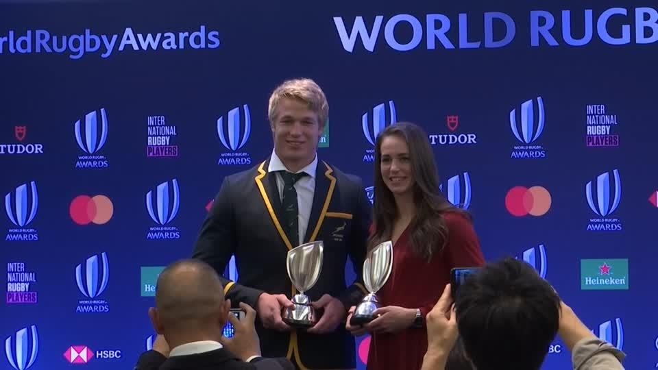 'One of the best moments of my life', says World rugby player of the year Du Toit