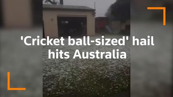 Australians begin cleanup after 'cricket ball' size hail storm