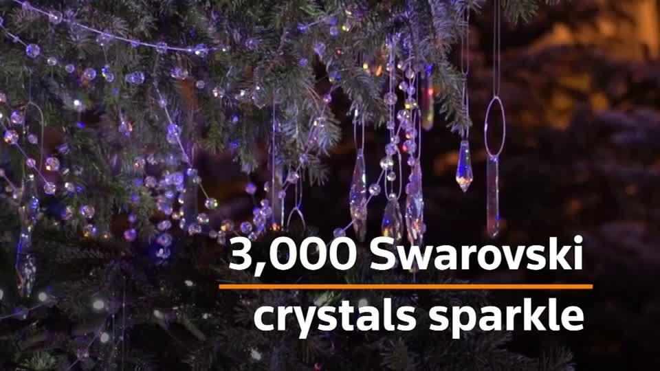 3,000 crystals sparkle on Tivoli Christmas tree