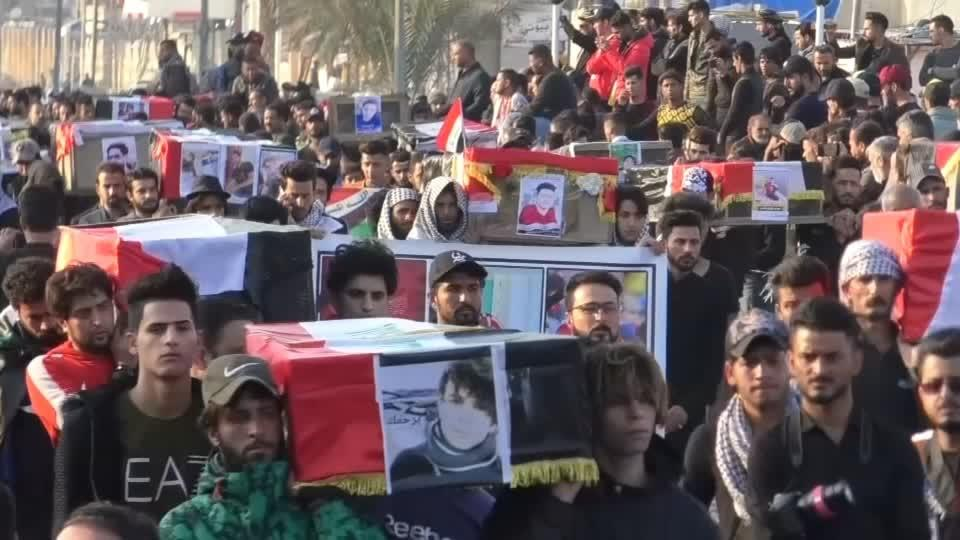 Anger mixes with mourning in Iraq's Nassiriya