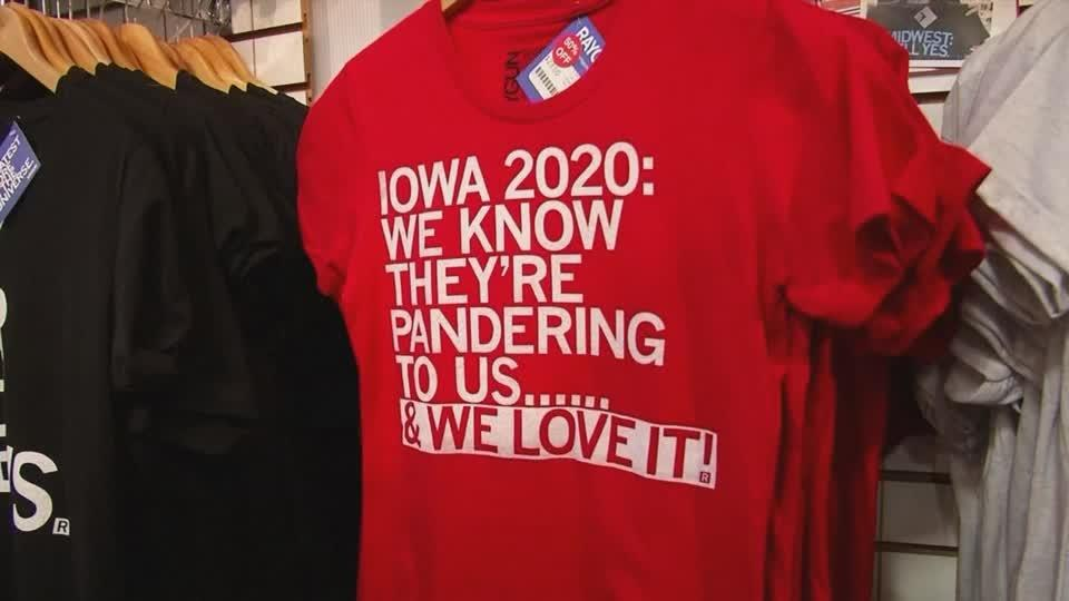 Whimsical caucus souvenirs in demand as big night approaches