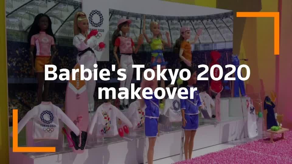 Barbie goes for gold at Tokyo 2020 Olympics