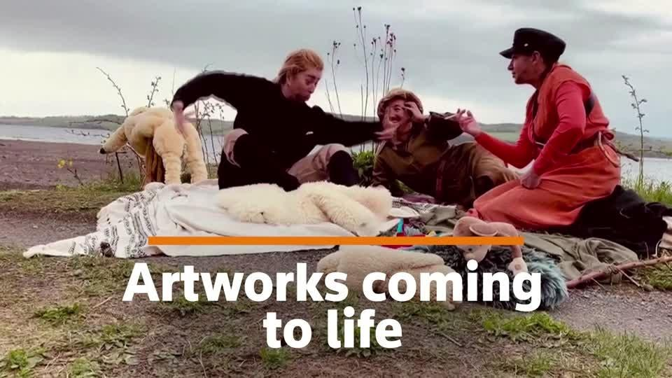 Life imitates art: Russian group recreate masterpieces