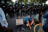 Nationwide clashes reach White House