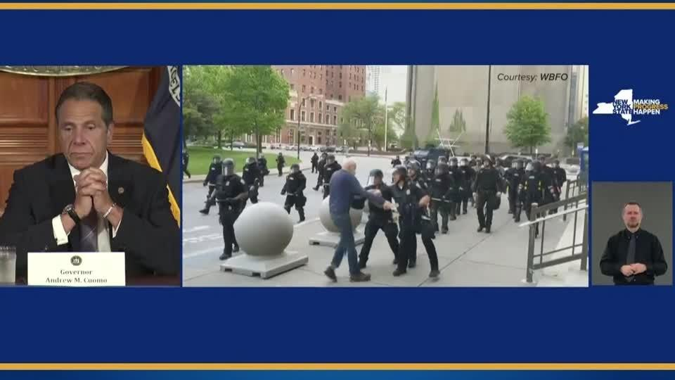 Cuomo 'sick' over police incident in Buffalo, defends curfews