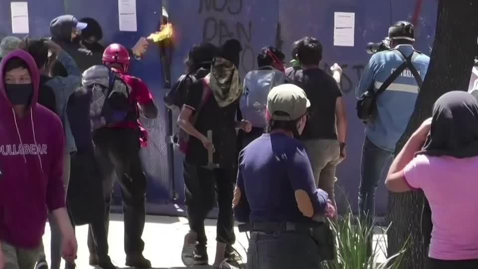 Protests over police abuses flare again in Mexico