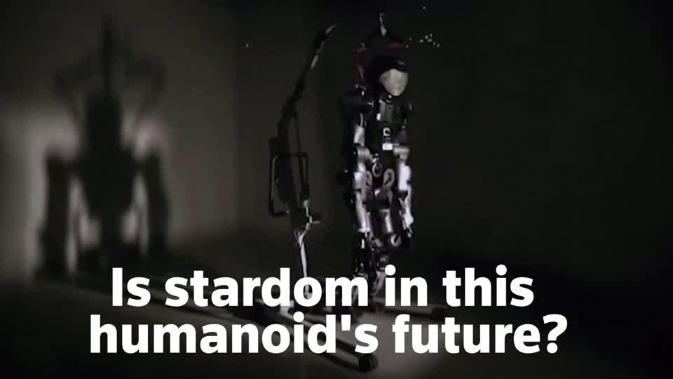 Humanoid robot makes music video debut