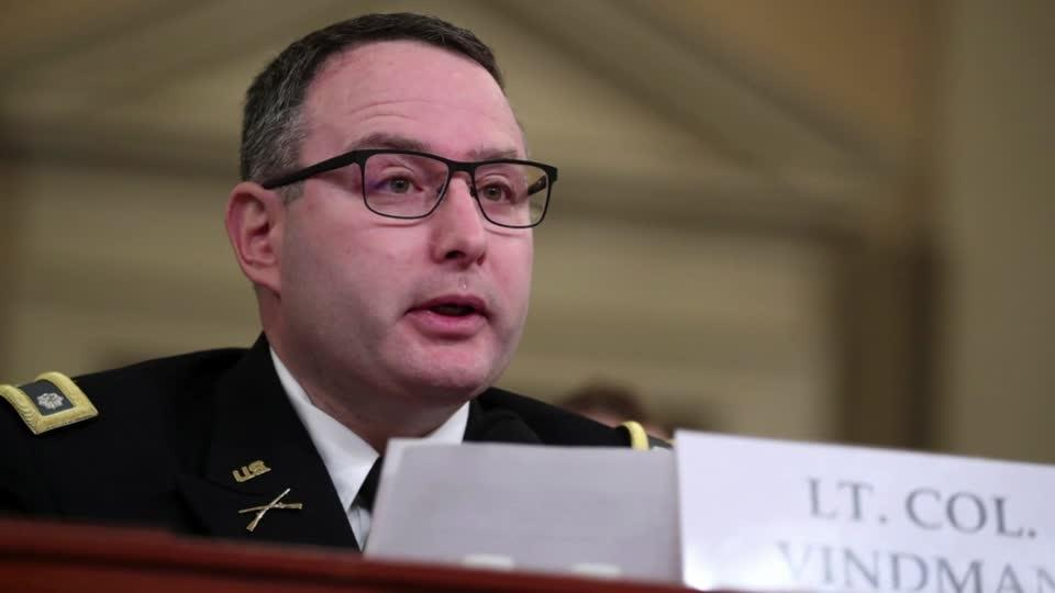 Vindman retires from Army over 'bullying' by Trump