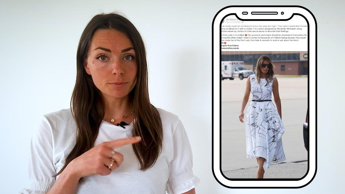 Fact Check: Melania Trump's dress not designed by child victims of sex trafficking