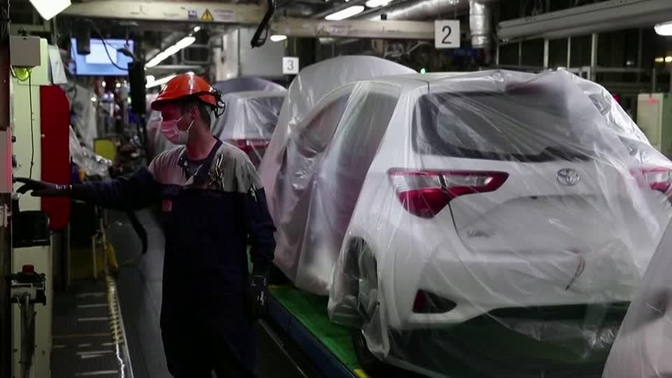 Toyota's Q1 profit nearly wiped out