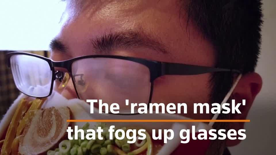 The 'ramen mask' that fogs up glasses