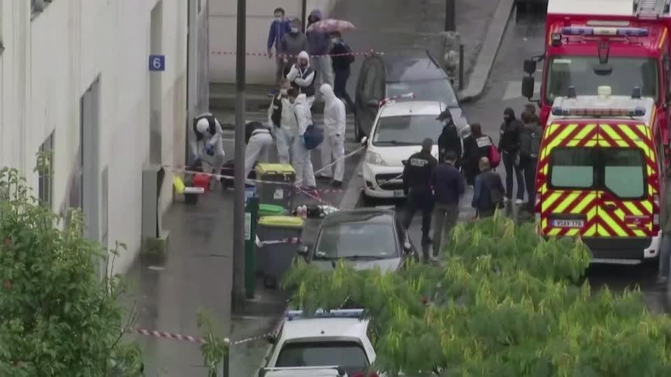 Paris knife attack suspect says he targeted Hebdo