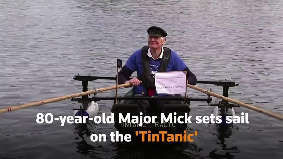 "80-year-old Major Mick sets sail on the ""TinTanic"""