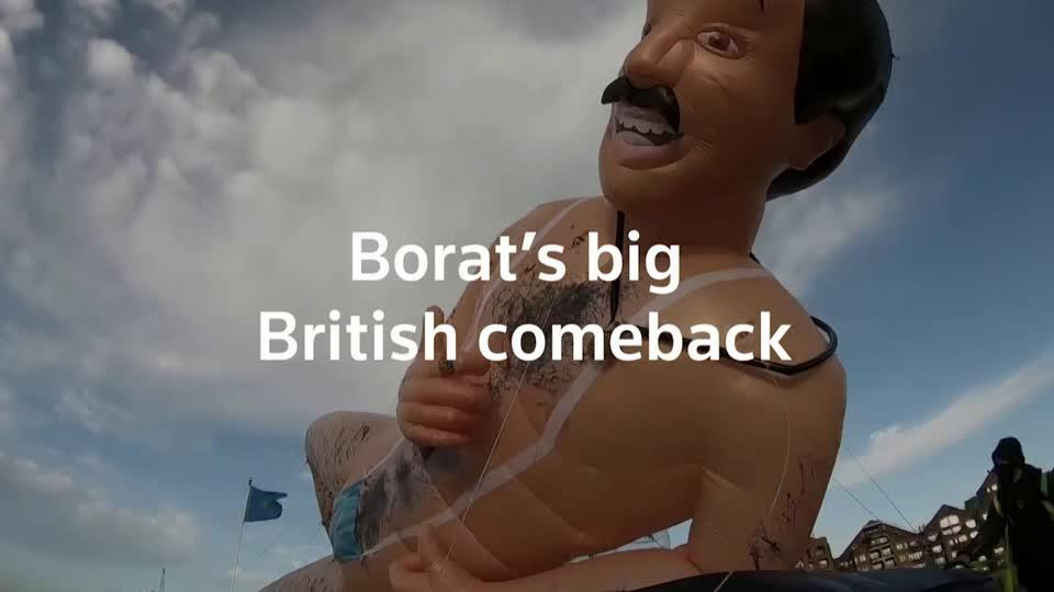Borat returns to London in all his glory