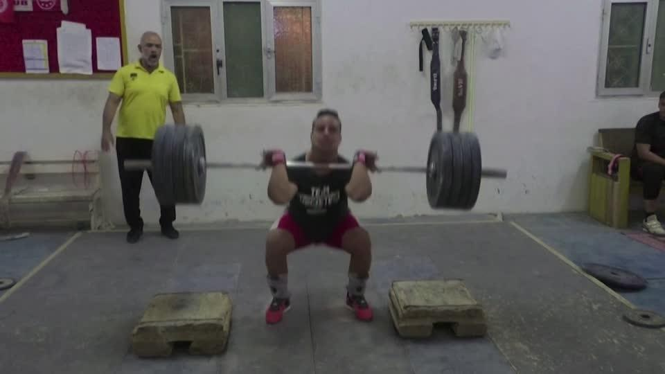Libyan weightlifter fights for Olympic dream