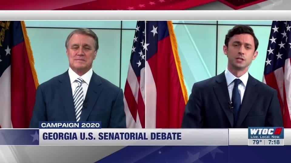 Georgia sen., rival clash in heated debate