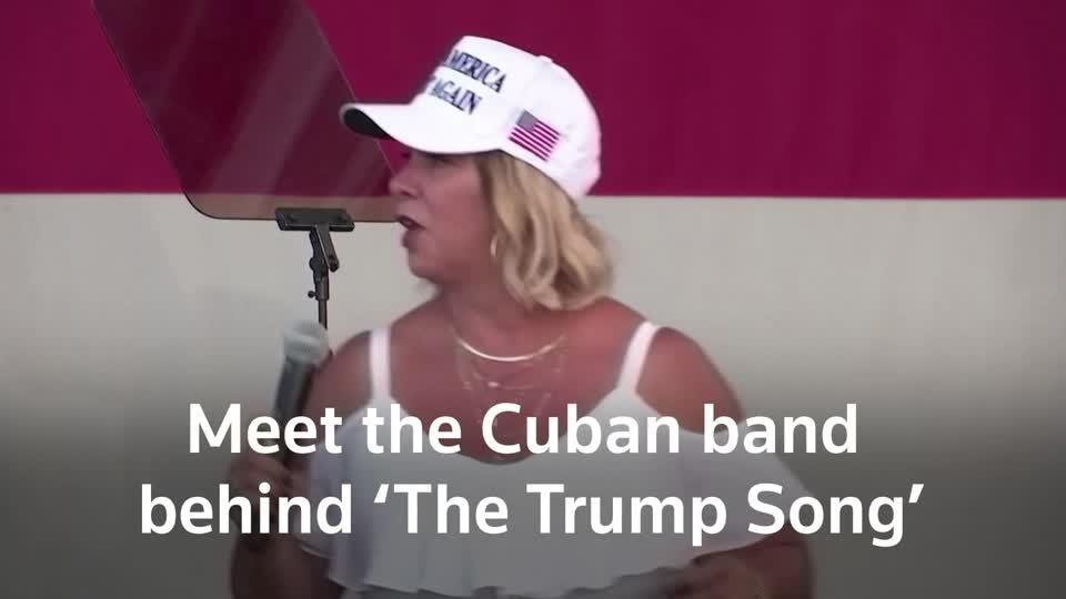 The Cuban band signing 'Vote for Trump'