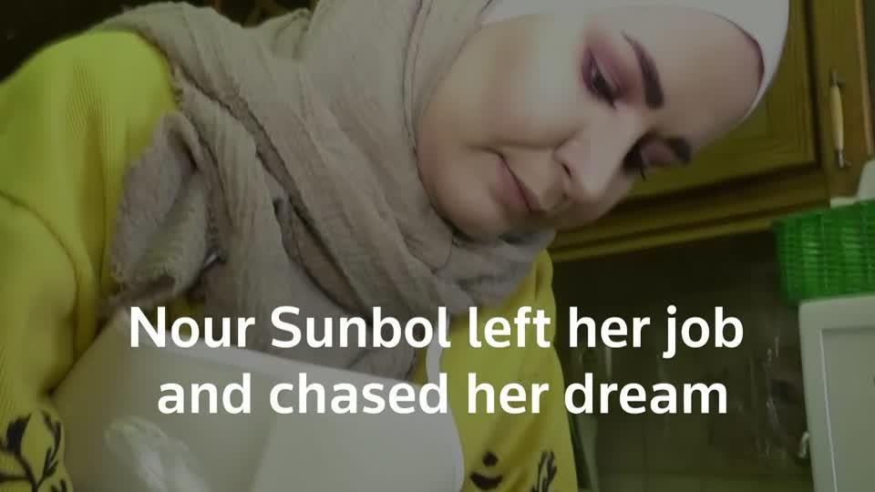 Syrian woman chases chocolate dream