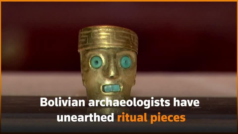 Bolivian archaeologists unearth ritual pieces