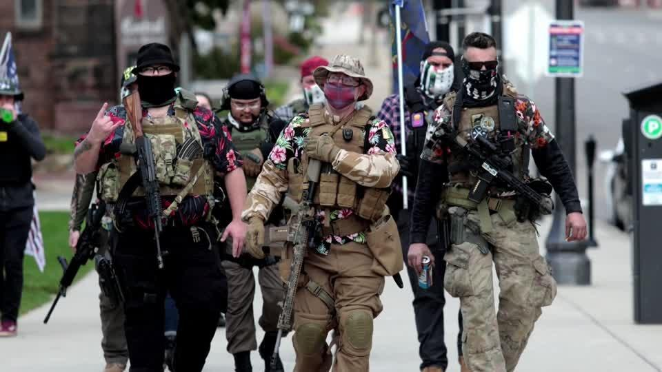 U.S. capitals on edge for armed protests