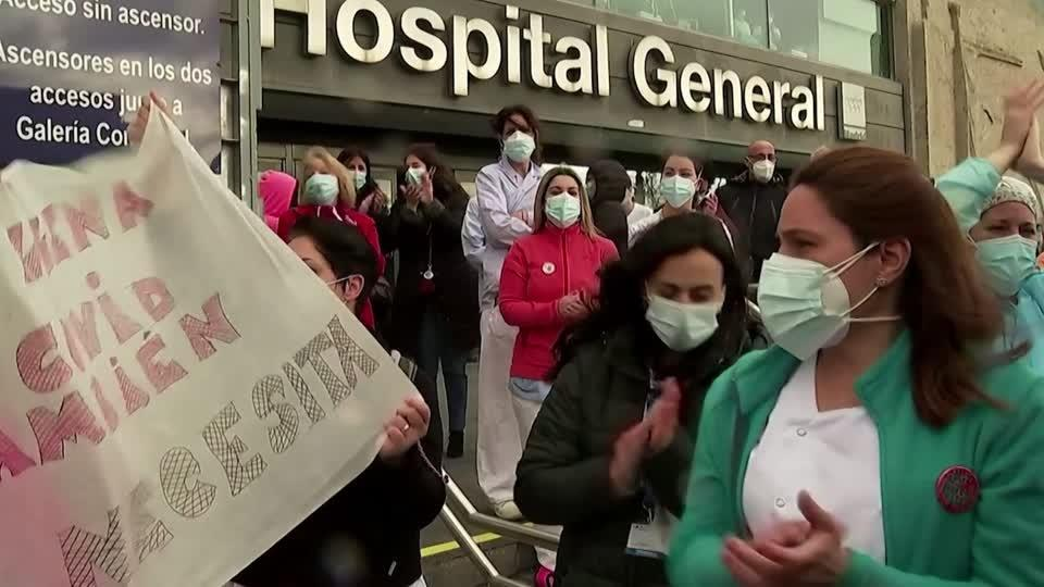 Madrid medics protest forced hospital transfer