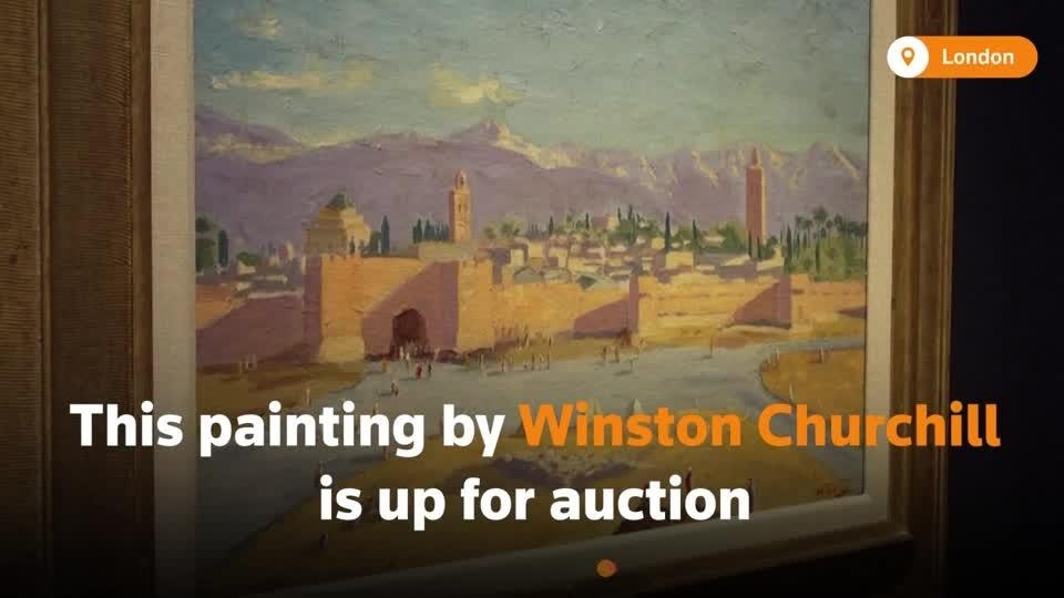 A wartime painting by Churchill up for auction