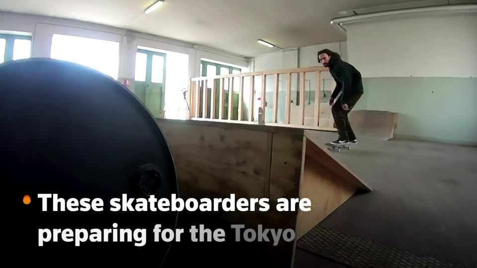 German-Lebanese skateboarders train for the Olympics