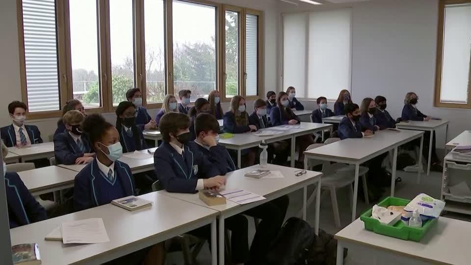English schools return, care homes allow visitors