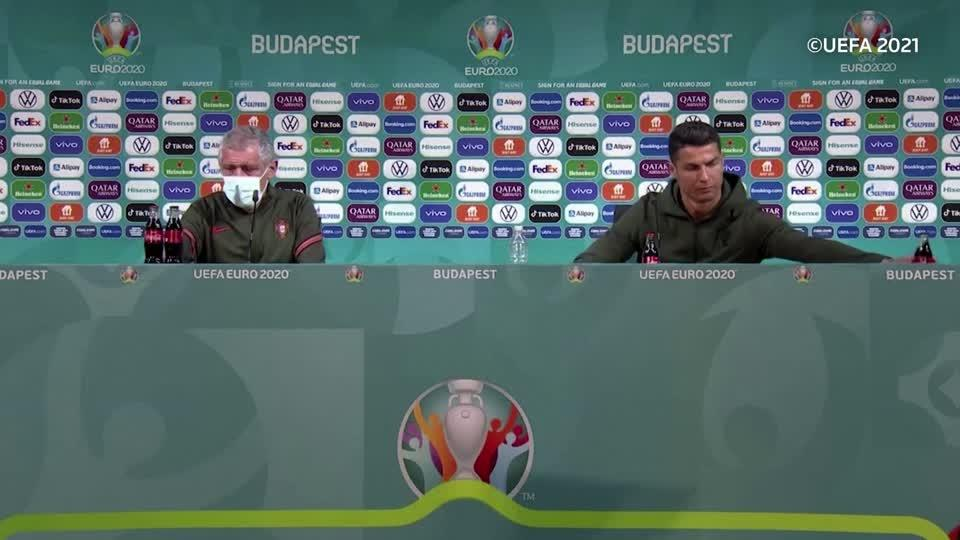 Soccer stars snub drink sponsors at Euro 2020