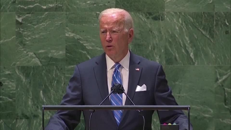 Biden vows diplomacy, unity in U.N. speech