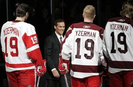 Yzerman inspires Detroit to victory after number retired ...