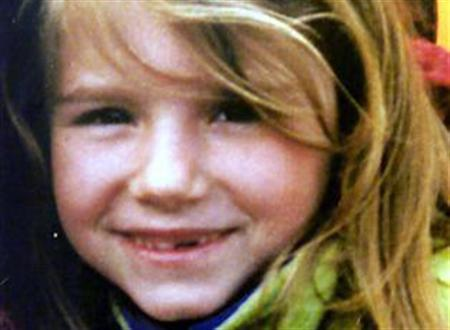 Eight-year-old murder victim Sarah Payne is seen in an undated handout photo. Parents will be able to find out whether paedophiles live near them under the first trial of new legislation known as Sarah's Law, named for Payne, despite fears of vigilante attacks, an MP said on Tuesday. REUTERS/Handout
